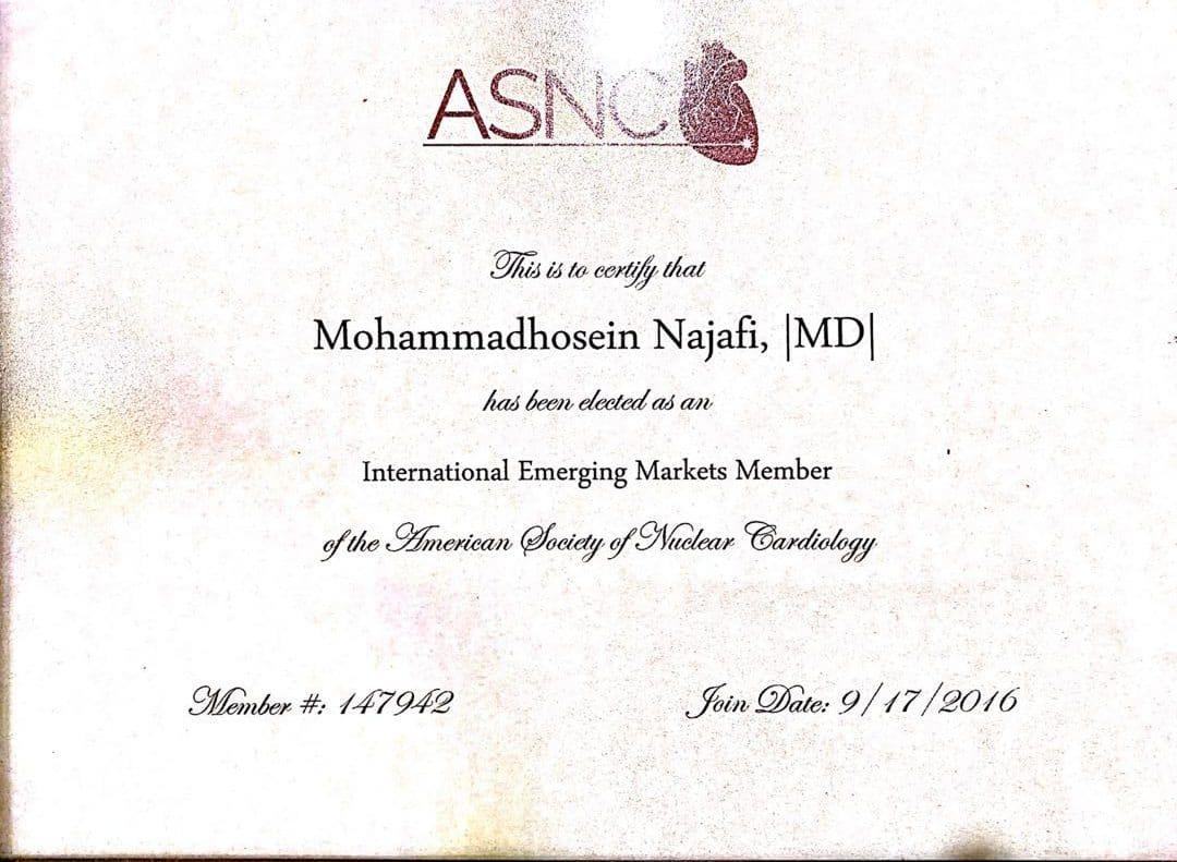 dr najafi certificate